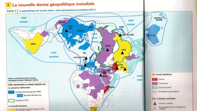 carte géopolitique A
