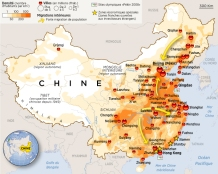 carte chine populattion